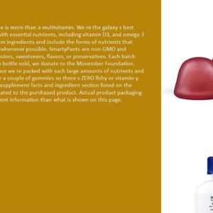 SmartyPants Men's Complete Gummy Vitamins- Multivitamin, CoQ10, Lycopene, Methyl B12, Omega 3  Scam