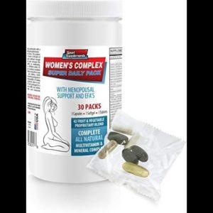 Nail Hair Skin Vitamins Natural - Women's Complex - Super Daily Pack - Black Cohosh Supplements - 1