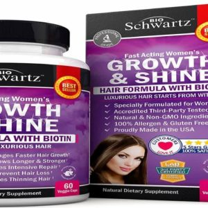 Hair Growth Vitamins with Biotin. Exclusive Hair Growth Product for Women for Longer Stronger Silk