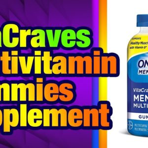 One A Day Men's VitaCraves Multivitamin Gummies, Supplement with Vitamin A, Vitamin C, Vit