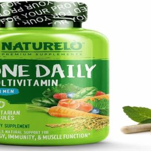 NATURELO One Daily Multivitamin for Men - with Whole Food Vitamins - Organic Extracts - Natural S39