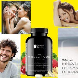 Primitive Scientific Mens Multivitamins, Vitamins Supplements for Men 120 Caps, Keto Friendly Multim