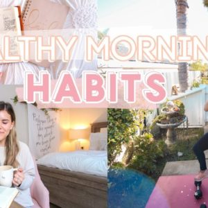 Transform Your Morning! HEALTHY HABITS Wake Up Early, Workout + Get MOTIVATED!