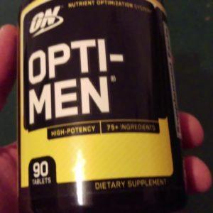 Vitamins - GNC Superfoods Ultra Mega Greens Men's Sport vs. OPTI-MEN from Optimum Nutrition