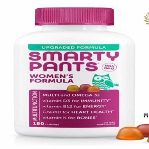 SmartyPants Womens Formula Daily Gummy Vitamins: Gluten Free Multivitamin & Omega 3 Fish Oil dha/